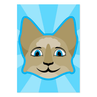 Anime Cat Face With Blue Eyes Business Cards