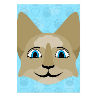 Anime Cat Face With Blue Eyes Business Card