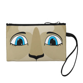 Anime Cat Face With Blue Eyes Coin Purse
