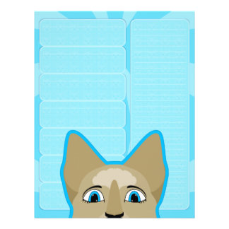Anime Cat Face With Blue Eyes Personalized Flyer