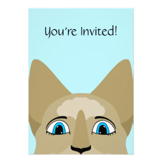 Anime Cat Face With Blue Eyes Personalized Announcements