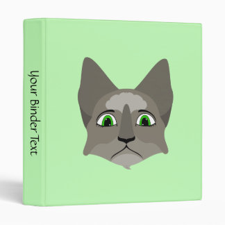 Anime Cat Face With Green Eyes Binders