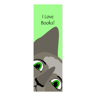Anime Cat Face With Green Eyes Business Card