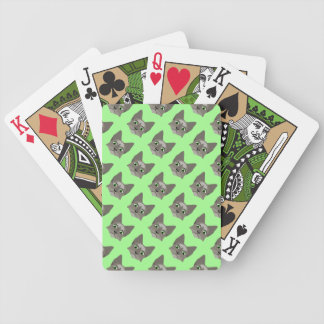 Anime Cat Face With Green Eyes Poker Cards