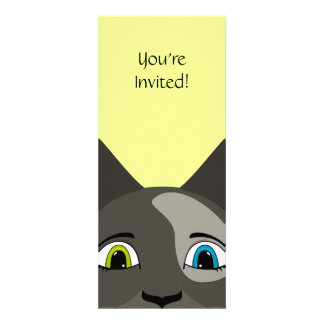 Anime Cat Face With Multi Colored Eyes Personalized Invites