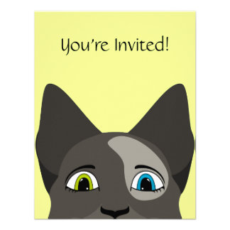 Anime Cat Face With Multi Colored Eyes Announcement