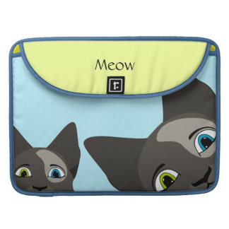 Anime Cat Face With Multi Colored Eyes Sleeves For MacBook Pro