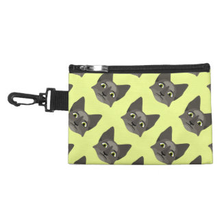 Anime Cat Face With Yellow Eyes Accessories Bags