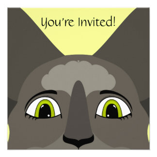 Anime Cat Face With Yellow Eyes Personalized Announcements