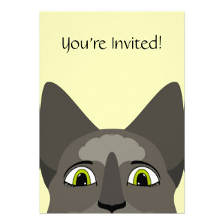 Anime Cat Face With Yellow Eyes Personalized Announcement