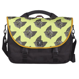 Anime Cat Face With Yellow Eyes Commuter Bag