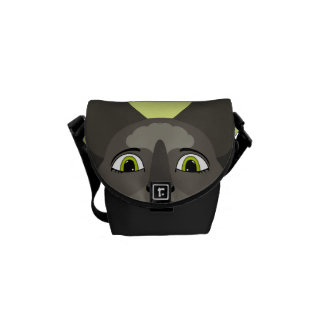 Anime Cat Face With Yellow Eyes Courier Bags