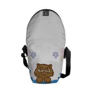 Anime Cat in Water Messenger Bag