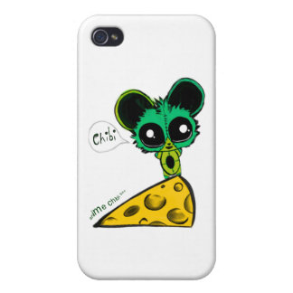 Anime Chibi Mouse and Cheese iPhone 4/4S Case
