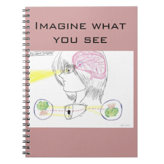 Anime Drawing-Style Eye Sight Diagram Spiral Notebook