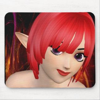 Anime Elf Girl Mouse Pad