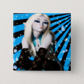 Anime Frost Elfin Girl Pinback Button