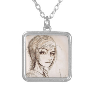 Anime Gal Vintage Style Custom Necklace