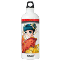 Anime Geisha Aluminum Water Bottle