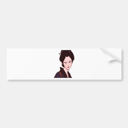 Anime Geisha Girl Bumper Stickers