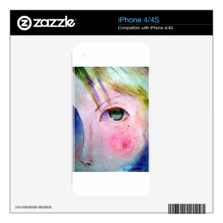 Anime Girl Decals For The iPhone 4