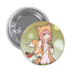 Anime Girl in Fox Cosplay 1 Inch Round Button