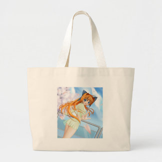 Anime Girl Large Tote Bag