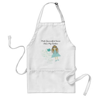Anime Girl Make Yourself At Home Clean My Kitchen Aprons