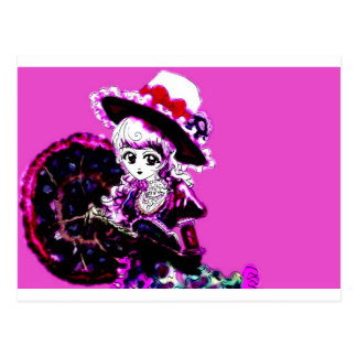 Anime Girl Manga Kawaii Decora Emo Gothic Punk Postcard