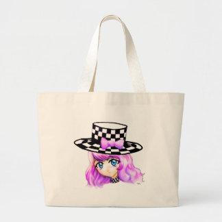 Anime Girl Manga Punk Lolita Harajuku Gothic Style Large Tote Bag