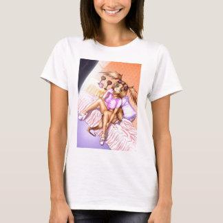 Anime Girl Nikki on Bed T-Shirt