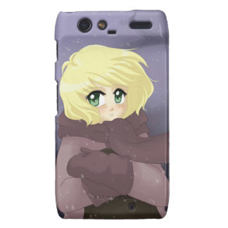 Anime girl on a windy day droid RAZR covers