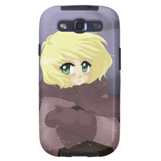 Anime girl on a windy day galaxy s3 cover