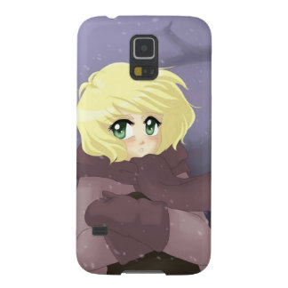 Anime girl on a windy day galaxy s5 covers