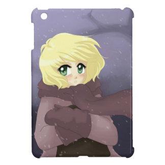 Anime girl on a windy day iPad mini covers