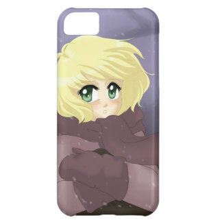 Anime girl on a windy day iPhone 5C cover