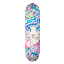 Anime Girl Remix Skate Deck