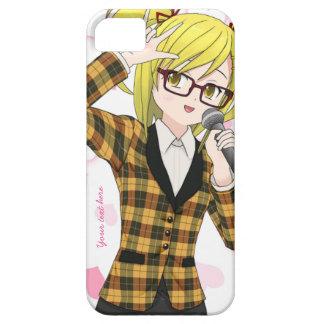 Anime Girl Singing Karaoke Customizable Phone Case