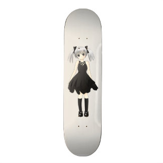 Anime girl skateboard