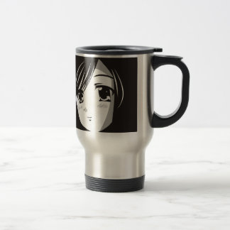 Anime girl travel mug