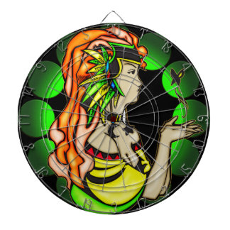 Anime Girl with Butterfly Dartboard