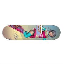 Anime girl with cookies Skateboard