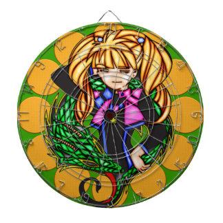 Anime Girl With Dragon Dartboard