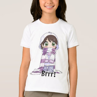Anime Girl Wrapped Up In Winter Gear T-shirt
