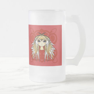 Anime Girls Gifts Frosted Glass Beer Mug