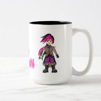 Anime Girls Have All the Fun Two-Tone Coffee Mug