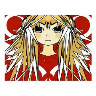 Anime Girls Postcard