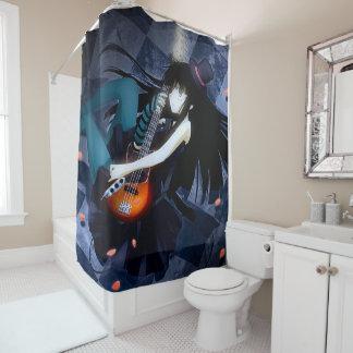 Anime Goth Fantasy Rocker Girl Shower Curtain