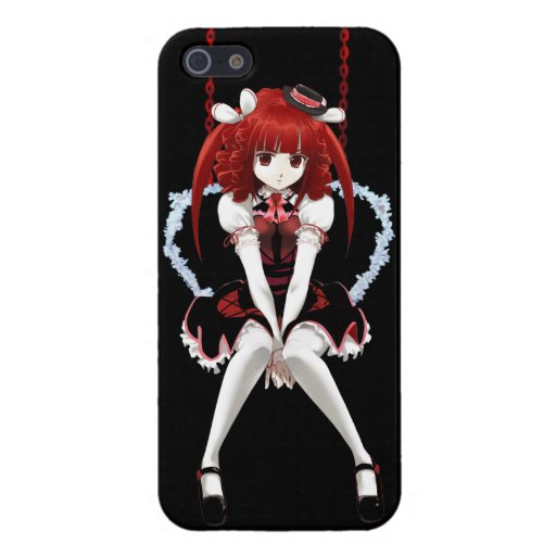 Anime Gothic Lolita - On Black iPhone 5 Cover