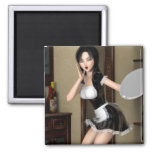 Anime Gothic Maid Isa Magnet